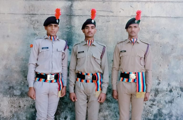 NCC Scouts after training